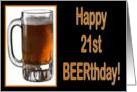 Happy 21st Birthday BEERthday card
