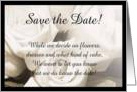 Wedding Save the date cards poem and rings card