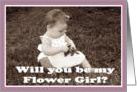 Flowergirl cards Will you be my Flower Girl? card