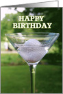 Happy Birthday Golf Martini card
