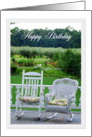 Happy Birthday, Vintage Rocking Chairs card