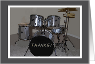 Thanks to Music Teacher - drum kit card