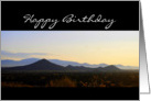 Happy Birthday Santa Fe Mountains Sunrise card
