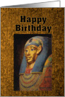 Pharaoh Happy Birthday Humor card
