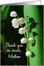 Thank You Lily of the Valley Mother card
