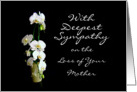 Deepest Sympathy Mother White Orchids card