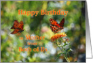Happy Birthday to Mother from Both of Us, Gulf Fritillary Butterflies card