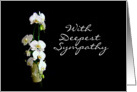 With Deepest Sympathy White Orchids card
