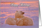 Happy Holiday family sunset card