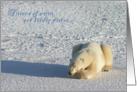 Polar holiday dreams card