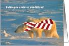 Polar wonderland walk card