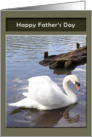 Father's Day - bird on water card