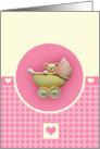Pink Pram card