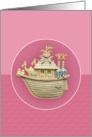 Pink Noah,s Ark card