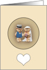 Bride & Groom Teddy Bears card