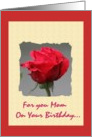 For You Mom On Your Birthday card