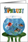 Happy Nowruz Persian New Year - Goldfish Bowl card