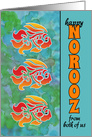 From Both of Us Happy Norooz Persian New Year - Goldfish card