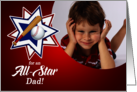 Father's Day All-Star Dad Photo Card Baseball Theme card