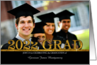 Class of 2014 Graduation Party Photo Card Gold Bling card