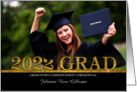 Class of 2014 Graduation Ceremony Photo Card Gold Bling card