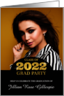Class of 2014 Graduation Party Invitation Photo Card Gold Bling card