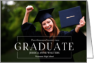 Graduation Announcement Photo Card Blue Graduates card