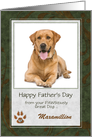 Happy Father's Day From the Dog - Green and Brown Photo Card