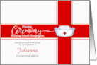 Pinning Ceremony for Nursing School Graduate Custom Invitation card