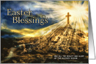 Spirtual Easter Blessings Golden Cross card
