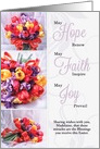 Custom Easter Blessings - Tulip Bouquets Fatih Hope Joy card