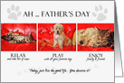 Father's Day Fun Kitten and Puppy card