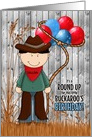 Custom Birthday Party Invitation Cowboy Western Theme card