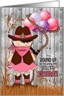 Custom Birthday Party Invitation Cowgirl Western Theme card