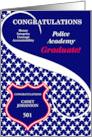 Custom Police Academy Graduate Congratulations card