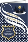 Custom Father's Day Police Officer Theme card