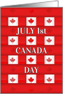 Canada Day Maple Pattern card