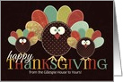 from Our House to Yours Thanksgiving Silly Patchwork Turkey card