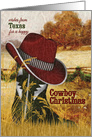 from Texas Cowboy Christmas Western Boot and Hat card