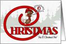 O Christmas Tree Singing Mouse card