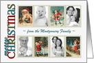 Custom Vintage Santa Christmas Postage Photo Card