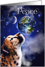 Peace on Earth Wild Cheetah Christmas card