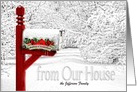 Merry Christmas From Our House to Yours - Winter Mailbox card
