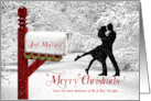 Custom from Newlyweds Merry Christmas from Our New Address card