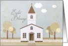 Easter Blessings Vintage Church from 1810 in Pastel Hues card