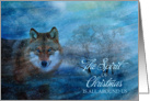 The Spirit of Christmas - Wolf in the Snow card