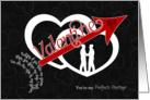 for Gay Partner Be Mine Valentine Arrow through Hearts card