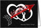 for Lesbian Partner Be Mine Valentine Arrow through Hearts card