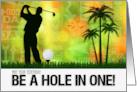Birthday for a Golfer - Golf Sports Theme card