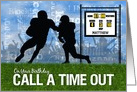 Custom MVP Birthday Football Theme card